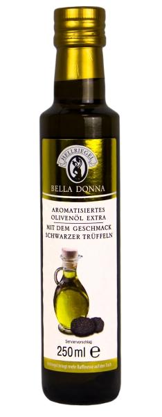 Natives Olivenöl Extra mit schwarzen Trüffeln aromatisiert