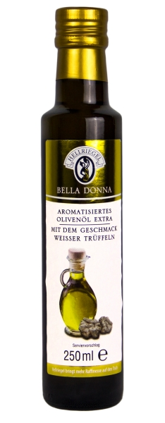 Natives Olivenöl Extra mit weissen Trüffeln aromatisiert